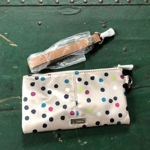 Jewell by Thirty-one polka dot wristlet